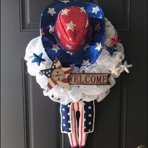 Front Door America Inspired Wreath